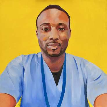 Thumbnail image of Lisa Timmerman, 'Dr Angelo' - Portraits for NHS Heroes | Lisa Timmerman