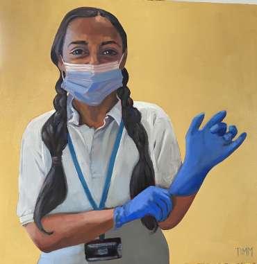 Thumbnail image of Lisa Timmerman, 'Fuzzy' - Portraits for NHS Heroes | Lisa Timmerman