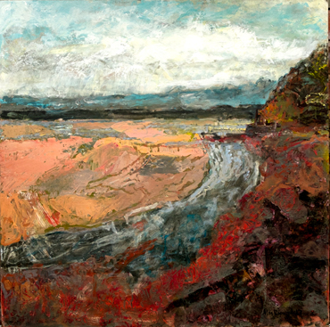 Low Tide across St Austell Bay, 2017 (sold) by Alan Hopwood