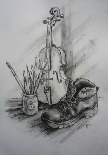 Thumbnail image of Still Life with Violin by Alan Willey