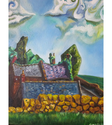 Thumbnail image of Three Roofs and a Wall by Andrew Sales