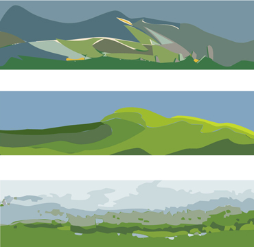 Thumbnail image of Landscapes-Triptych by David Clarke