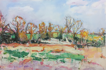 Thumbnail image of Whitchurch, Pond behind the House by Deborah Ward