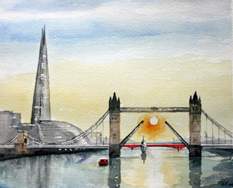 Thumbnail image of Tower Bridge and the Shard, London by Douglas Smith