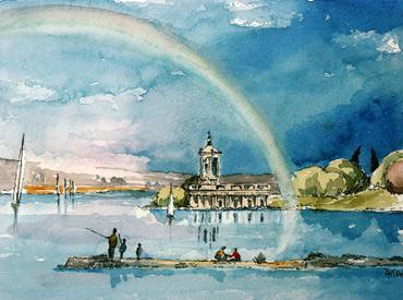 Thumbnail image of Normanton Church, Rutland Water by Douglas Smith