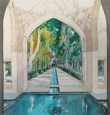 Fin Persian Garden, Kashan, Iran by Douglas Smith