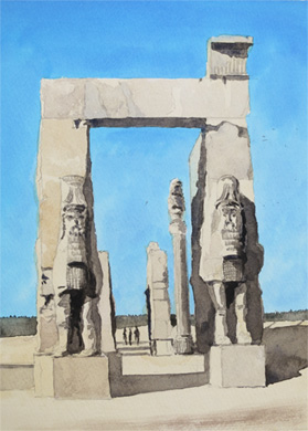 Gate of All Nations, Persepolis, Iran by Douglas Smith
