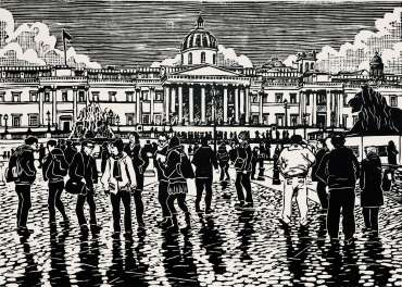Thumbnail image of People at Trafalgar Square 2 by Frank Bingley