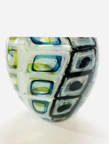 Double Murrini Tall Bowl by Graeme Hawes