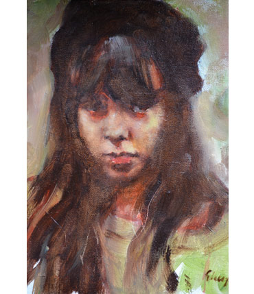 Portrait of Girl by Graham Lacey