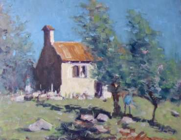 Thumbnail image of Farmhouse with Olive Trees by Graham Lacey