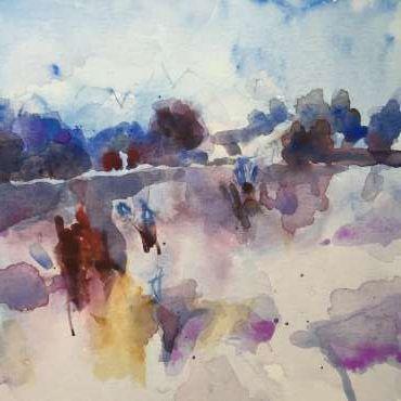 Winter Fields by Hazel Crabtree