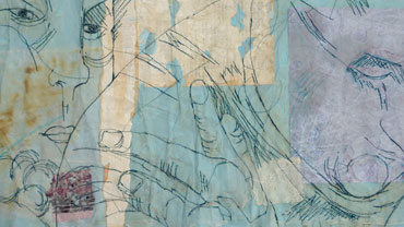 Thumbnail image of Blue couple (detail) by Heather Harley