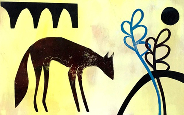 Thumbnail image of Fox with Ferns by Henrietta Corbett