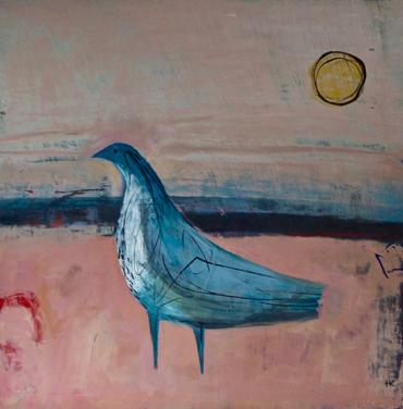 Thumbnail image of Blue Bird on Pink by Henrietta Corbett