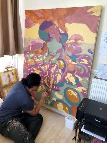 Jarvis Brookfield in his studio by Jarvis Brookfield