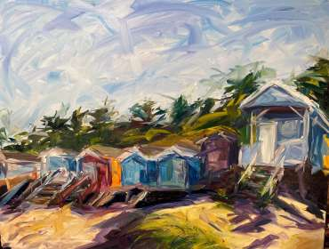 Norfolk Beach Huts by Joe Giampalma