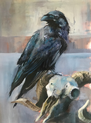 Thumbnail image of Raven and Sheep by Julie Manson
