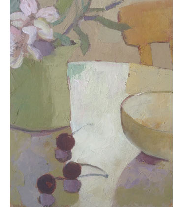 Thumbnail image of Alstroemeria and Cherries by Lesley Brooks