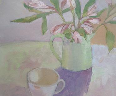 Thumbnail image of Alstroemeria and Cup by Lesley Brooks