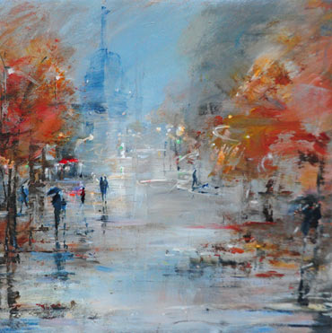 Thumbnail image of Wet Evening, Paris by Linda Sharman