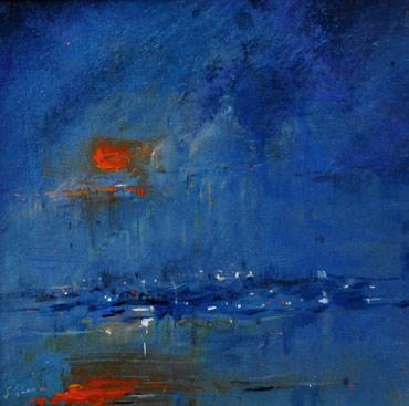Thumbnail image of Sun Setting, Venice by Linda Sharman