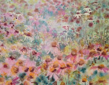 Echinacea Border by Lyn Armitage