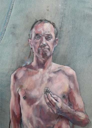 Self-Portrait with Tumour by Mark Hancock