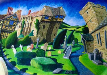 Stokesey Castle, Shropshire by Mikki Longley