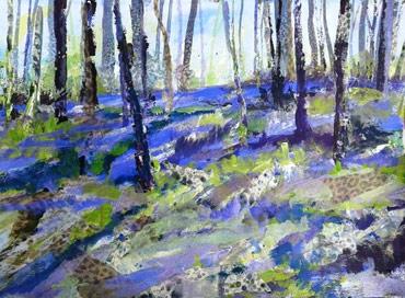 Thumbnail image of Burleigh Bluebell Woods by Rita Sadler