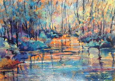 Thumbnail image of Slumbering Stream by Rita Sadler