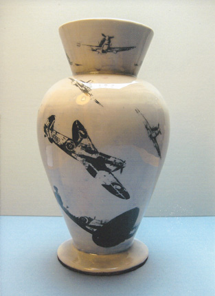Battle of Britain Vase by Roderick Hill