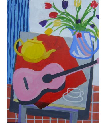 Thumbnail image of Pink Guitar by Roger Whiteway
