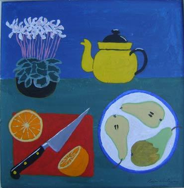 Thumbnail image of Yellow Teapot by Roger Whiteway