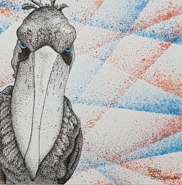 Thumbnail image of Portrait of a Shoebill by Sally Struszkowski