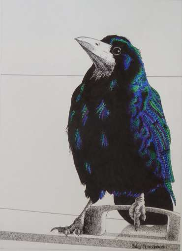 Thumbnail image of Rook on a Bin by Sally Struszkowski