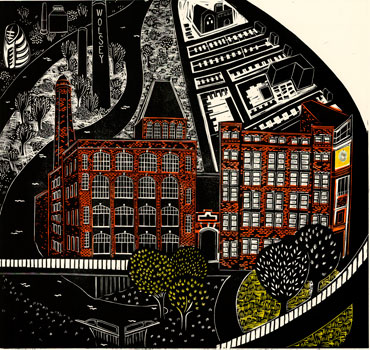 Abbey Mills and the Wolsey Building, 2012 by Sarah Kirby