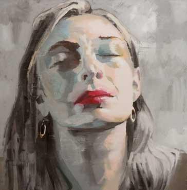 Thumbnail image of Portrait with Earrings by Scott Bridgwood