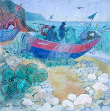 Thumbnail image of Mending Nets by Shirley Easton