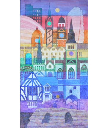 Thumbnail image of Leicester Rainbow City by Shirley Easton
