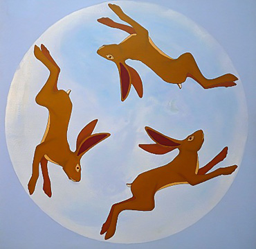 Thumbnail image of Hares in the Moon by Stuart Hill