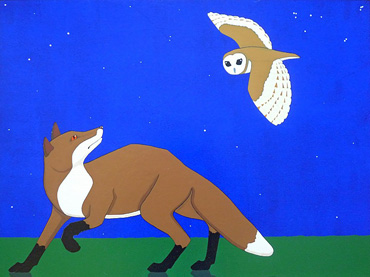 Thumbnail image of Fox and Owl by Stuart Hill
