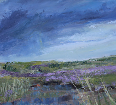 Thumbnail image of Incoming Storm over the Sea Lavender by Sue Graham