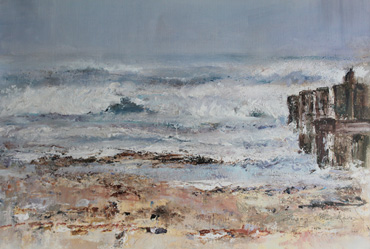 Thumbnail image of Crashing Waves over the Groins by Sue Graham