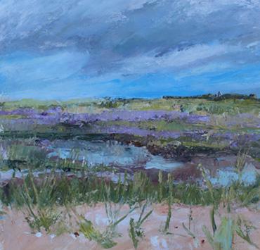 Thumbnail image of Blue Sky towards Morston by Sue Graham