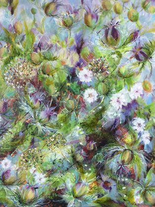 Thumbnail image of White Nigella and Allium Seedheads by Toni Northcott