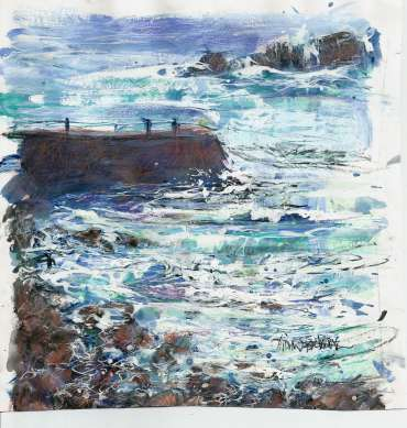 Sennen Stormy Day by Vivien Blackburn