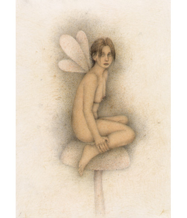 Thumbnail image of Maria on Toadstool by Wayne Anderson
